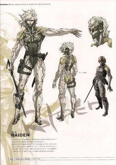 Raiden Says — Metal Gear Solid 4 Artbook - Raiden concept art