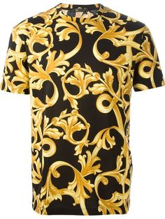 Versace Men's Royal Barocco Baroque Print Cotton T-Shirt Brand New Versace T-shirt, Versace Fashion, Best Shirt Brands, Baroque, Best T Shirt Designs, Cheer Shirts, Unique Outfits, My T Shirt, Custom Clothes