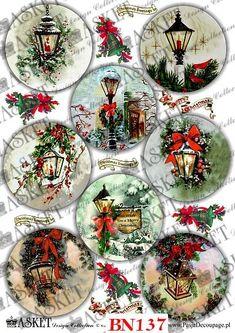 Decoupage Papier Seria BN - Szkoła Asket - Aktualne Kursy i Szkolenia Art Christmas Crafts To Make, Christmas Decoupage, Christmas Gift Tags, Vintage Christmas Cards, Christmas Projects, Christmas Decorations, Christmas Ornaments, Christmas Hacks, Snowman Ornaments