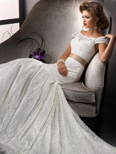 Monarch Train Wedding Gowns | ... Satin Chapel Train White Sashes / Ribbons Wedding Dresses at Msdressy