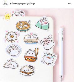 26 Pack Paper Love Food Puns Funny Rainbow Kawaii Stickers//Sticker Set