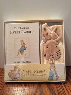 Beatrix Potter Peter Rabbit Book and Blanket Set Infant Toddler NIB