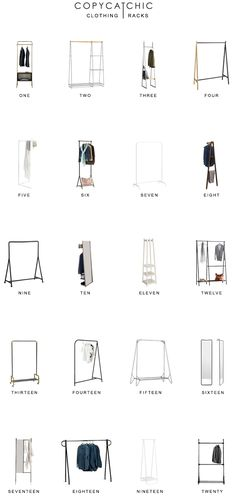 Looking for stylish clothing racks? Here are our favorite closet racks for chic closets copycatchic luxe living for less budget home decor and design Room Ideas Bedroom, Bedroom Decor, Closet Racks, Small Room Interior, Pinterest Room Decor, Deco Studio, Boutique Interior Design, Handmade Furniture, Vintage Furniture