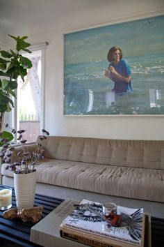 Great painting-     Tylers Bright Bungalow in Silver Lake House Tour