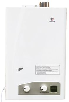 Eccotemp FVI12-LP Tankless Water Heater: ideal space and energy saving replacement for electric water heaters in small spaces. Gadgets Électroniques, Cooking Gadgets, Tiny House Appliances, Small Appliances, Tankless Hot Water Heater, Remodeling Mobile Homes, House Remodeling, H & M Home, Water Heating