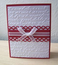 Romance Unconditional Love Embossed Card by ForgetMeNotMemories, $3.50