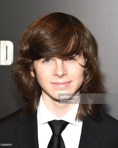 Actor Chandler Riggs attend AMC's 'The Walking Dead' Season 6 Fan Premiere Event 2015 at Madison Square Garden on October 9, 2015 in New York City.
