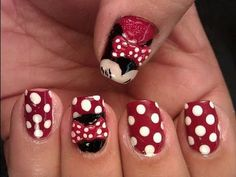 Minnie Mouse Inspired Nail Art Tutorial