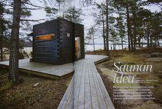 Sauna by the lake, Finland Saunas, Cabins In The Woods, House In The Woods, Mini Sauna, Sauna House, Portable Sauna, Arched Cabin, Sauna Design, Outdoor Sauna