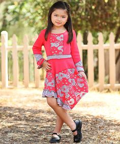 Look at this Red Heart Asymmetric Dress - Toddler
