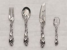 Silverware by Tim Burton