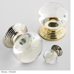 My Favorite glass knobs- Charles Edwards.  Smooth Round Glass Door Knob Product DF 26