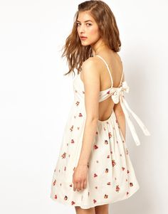 :Paul and Joe Sister Open Back Sundress with Bright Floral Embroidery