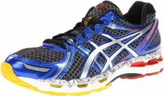 ASICS Men's GEL-Kayano 19 Running Shoe. Color: Black/Lightning/Blue.