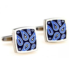 Share this with your friends and receive a 5% copon.Click here to wirte your message. Fashion Blue Striped Square Cufflinks