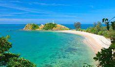 A beach on Koh Lanta, with a lighthouse, Thailand