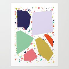 pattern, print, pattern design, terrazzo, society6