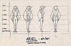 Ariel sketch awww it says she is 5'2 my height!