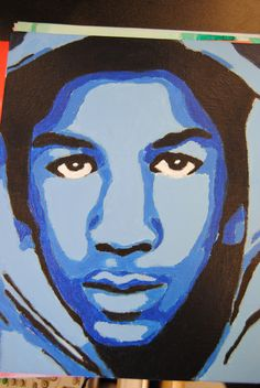 student monochromatic self portraits Travon Martin