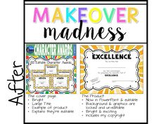 The Colorado Classroom: Making Over my Character Certificates