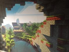 Minecraft wall paper from ink your wall!