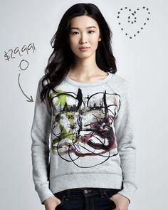 Proenza Schouler Watercolor Splatter Sweatshirt: $29.99