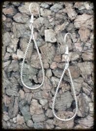 Twisted Teardrop Earrings   This elegant teardrop design handcrafted with 16 gauge twisted argentium silver is sure to be a conversation starter.  Earrings are approximately 2½ inches long.   $25.00