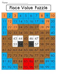 Place value math center that reveals a reindeer on a hundreds chart