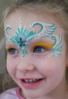 Face painting by A New Face Nikki Walters Face Painting Designs, Painting Patterns, Body Painting, New Face, Face And Body, Face Face, Princess Face Painting, Face Jewels, Henna Art