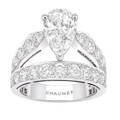 """Aube Printanière"" #Ring from ""Joséphine"" #Chaumet - #FineJewellery collection in #Platinum set with one 2,29 DFL carat #PearCut - #Diamond and 37 #BrillantCut diamonds july 2015 ---"
