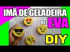 ★DIY: Imã de geladeira EMOJI feito com EVA ♥ Diy, Artes, presentes, arte...