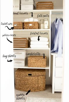 KonMari Your Linen Closet - Honeybear Lane Everyone is jumping on the KonMari bandwagon (Marie Kondo) and dejunking and decluttering, I started with my linen closet and couldn't love it more! Linen Closet Organization, Home Organisation, Bathroom Organization, Bathroom Storage, Closet Storage, Towel Storage, Bathroom Ideas, Storage Organization, Organization Ideas For The Home