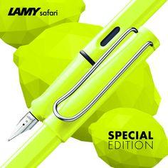 #LamySafari Special Edition Lamy Fountain Pen, Pen Design, Penne, Notebooks, School Stuff, Safari, Photograph, Motorcycle, Leather