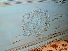 "DIY  Add Embellishments to ""plain"" furniture to make it have pizzazz!!!!  TUTORIAL"