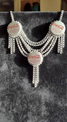 Replica Coca Cola Bottle Cap Necklace by EtchingNJewelry on Etsy