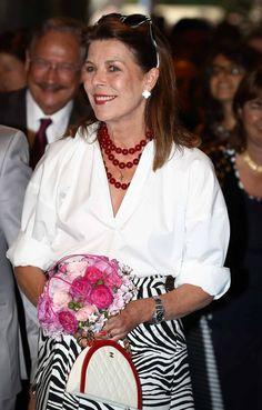 Carolina de Mónaco en el Festival Internacional de las Flores de Montecarlo