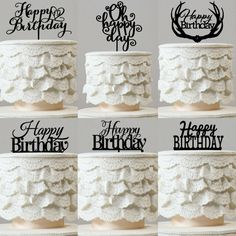Happy Birthday Cake Toppers (Party Supplies /Accessories /Decorations)