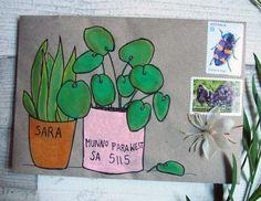 Mail art - my strange imagination — Naomi Loves Pen Pal Letters, Letter Art, Letter Writing, Envelope Art, Envelope Design, Mail Art Envelopes, Addressing Envelopes, Diy Arts And Crafts, Paper Cards