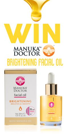 #RePin to #Win a Manuka Doctor Brightening Facial Oil! #competition #skincare