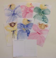 Watercolorcards, printed, sign by Gabriella Alanko