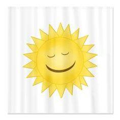 Smiling Sunshine Shower Curtain