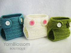 Baby CROCHET PATTERN Diaper Cover with by YarnBlossomBoutique