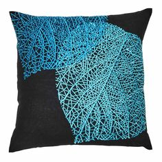 Online homewares at Australia's favourite place to shop - discover modern furniture and beautiful bedding for less. Screamin' good deals on The Home modern furniture and more! Embroidered Cushions, Cushion Inserts, Black Linen, Natural Linen, Embroidery Patterns, Modern Furniture, Pattern Design, Pillow Covers, Teal