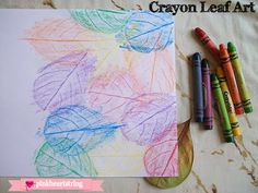 DIY crayon leaves
