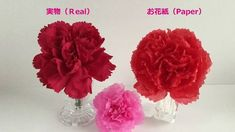 【お花紙】実物を見ながらカーネーションを作ってみた Paper Carnation - YouTube