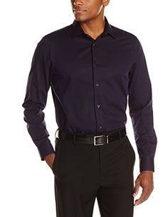 eed9269f64d Perry Ellis Men s Slim Fit French Cuff Iridescent Stripe Dress Shirt at Amazon  Men s Clothing store
