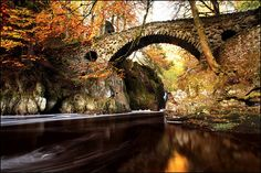 yes the water is pretty and so are the leaves...but look at that bridge!!!! The shape of it...the stones...if I were the water, I would be proud to flow under that bridge