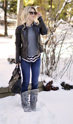 Super cute Sorel boots we love the outfit too! | Boots on Boots