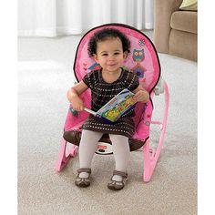 Fisher-Price Infant to Toddler Rocker, Pink Owls