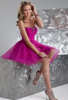 Abito da ballo Principessa moda/Moderno Perline Organza Estate